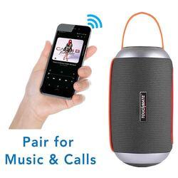 Touchmate TM-BTS650 Wireless Portable Bluetooth Speaker & Subwoofer, Black