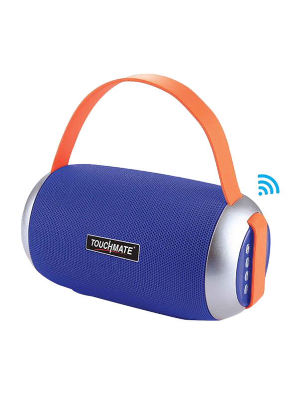 Touchmate TM-BTS650 Wireless Portable Bluetooth Speaker & Subwoofer, Blue