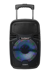 Touchmate TM-SP2300T Rechargeable Bluetooth Trolley Speaker with Wireless Mic, Black