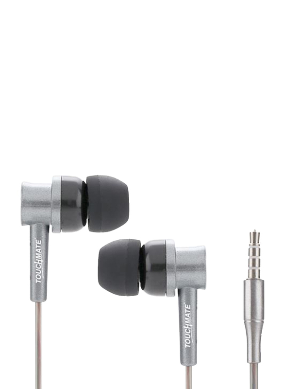 Touchmate TM-E0040 3.5 mm Jack In-Ear Ultra Bass Earphones with Mic & Volume Control, Grey