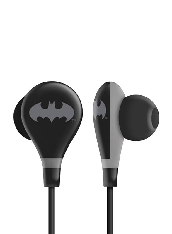 Touchmate Batman 3.5 mm Jack In-Ear Ultra Bass Earphones with Mic, Black
