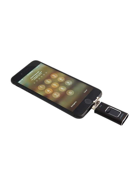 Touchmate 64GB 4-in-1 Smartphone USB Drive, TM-USB64GQ, Black