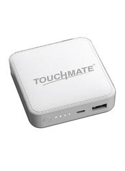 Touchmate 6000mAh TM-EC600 Mini Power Bank with Micro-USB Input, White