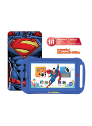 Touchmate Superman 16GB Blue 7-inch Kids Tablet, Quad Core 1.3GHz, 1GB RAM, 3G, with Silicone Cover Bundle and Headphones