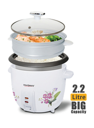 Touchmate 2.2L 2-in-1 Rice Cooker & Steamer, 900W, TM-RC102, White