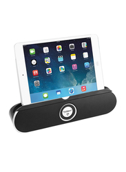 Touchmate TM-BTS600 Wireless Portable Bluetooth Speaker with Tablet Stand, Black/Silver