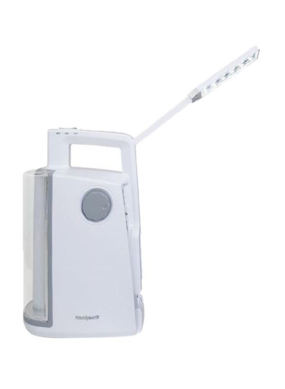 Touchmate Heavy Duty LED USB Emergency Light, TM-EML204, Grey/White