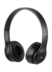 Touchmate TM-BTH500 Wireless Bluetooth On-Ear Headphones with Mic, FM, Aux & SD Card Slot, Black