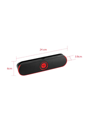 Touchmate TM-BTS600 Wireless Portable Bluetooth Speaker with Tablet Stand, Black/Red