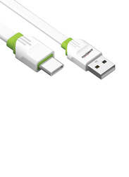 Touchmate 2-Meter USB Type-C Charge and Data Sync Cable, High-Speed 2.4A USB Type A Male to USB Type-C for Smartphones, White