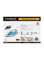 Touchmate 360° Multi-Direction Dry Iron, 1200W, TM-DTI201, Black/White