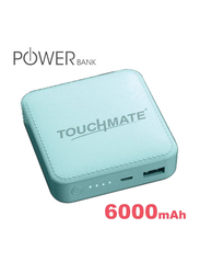 Touchmate 6000mAh TM-EC600 Mini Power Bank with Micro-USB Input, Blue