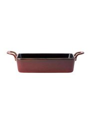 Luzerne 17cm Rustic China Rectangular Dish, 258-RT1119017CR, Crimson Maroon