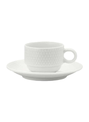 Luzerne 5oz Prism China Coffee Cup, 258-PS1406020, White