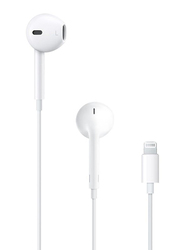 Apple EarPods In-Ear Headphones with Lightning Connector and Mic, White