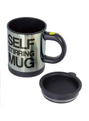 Generic 400ml Self Stirring Stainless Steel Mug, Black