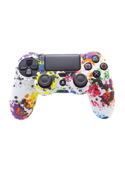 Game Controller Silicone Skin Protective Case Cover for PlayStation 4, White