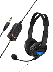Generic Wired Headsets with Mic for PS4, Black