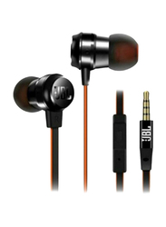 JBL T280A+ Titanium Diaphragm 3.5mm Jack In-Ear Stereo Gaming Headphones with Mic, Black