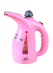 2-in-1 Mini Portable Garment and Facial Ironing Steamer, Pink
