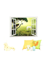 3D Removable Creative Wall Sticker, White/Green
