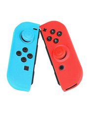 Generic Protective Silicone Joy-Con Controller Case for Nintendo Switch, Blue/Red
