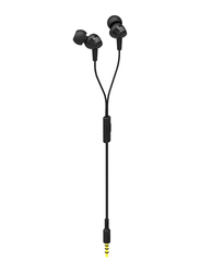 JBL C100SI 3.5mm Jack In-Ear Stereo Headphones with Mic, Black