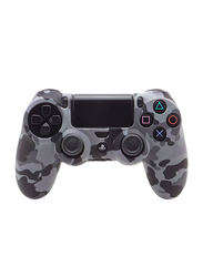 Generic Skin Controller Game Silicone Protective Case Cover for PS4, Grey Camouflage