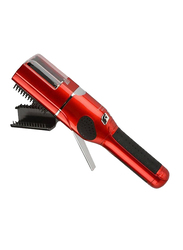 Fasiz Electric Cordless Remover Damaged Hair Ends Trimmer Hair Clipper Comb, Red