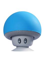 Mushroom Shape Waterproof Portable Wireless Speaker, Blue