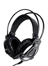 HP H100 Over-Ear Wired Gaming Headset, Black