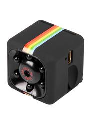 Quelima SQ11 1080p High Definition Night Vision Mini Camera Sports Camcorder, 12 MP, Black