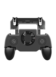 Generic Mobile Game Controller Grip Extended Handle with Trigger Joystick for Android and iOS Device, Black