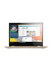 Lenovo Yoga 520, 14.0 inch FHD Touch Flip Display, Intel Core i3-8130U 8th Gen 2.2GHz, 1TB HDD, 4GB RAM, Intel HD Graphics, EN-AR Keyboard with Bluetooth, Win 10, 81C800GAAX, Gold