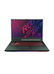 Asus ROG STRIX G, 17.3 inch FHD-144HZ, Intel Core i7 9750 H 9th Gen 2.6GHz, 1TB HDD + 256GB SSD, 16GB RAM, 6GB NVIDIA GTX1660TI Graphics, EN-AR KB with Bluetooth, Win 10, G731GU-EV089T, Black