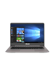 Asus ZenBook UX410UF, 14.0 inch FHD Display, Intel Core i7 8550U 8th Gen 1.8GHz, 1TB HDD + 512GB SSD, 16GB RAM, 2GB NVIDIA Graphics, EN-AR Keyboard with Bluetooth/Sleeve Bag, Win 10, GV076T, Grey