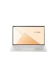 Asus ZenBook UX433FN, 14 inch FHD Display, Intel Core i7 8565U 8th Gen 1.8GHz, 512 SSD, 16GB RAM, 2GB NVIDIA Graphics, EN-AR Keyboard with Bluetooth/Sleeve Bag, Win 10, A5028TS, Silver