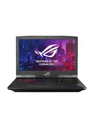 Asus ROG G703GXR, 17.3 inch FHD Display -144HZ, Intel Core i9 9980 HK 9th Gen 2.40GHz, 1.5TB SSD, 32GB RAM, 8GB NVIDIA RTX2080 Graphics, EN-AR Keyboard with Bluetooth, Win 10, EV015T, Black