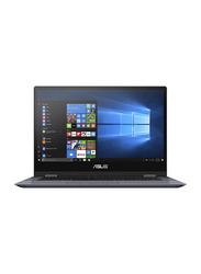 Asus VivoBook TP412UA, 14.0 inch FHD Touch Flip Display, Intel Core i3 7020U 7th Gen 2.3GHz, 128GB SSD, 4GB RAM, Intel HD Graphics, EN-AR Keyboard with Bluetooth, Win10, EC123TS, Grey