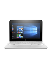 HP Stream 11-AG001NE, 11.6 inch Touch Flip Display, Celeron N 3060 1.6GHz, 32GB SSD, 4GB RAM, Intel HD Graphics, EN-AR Keyboard with Bluetooth, Win 10, 3RP85EA, White