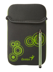 Genius Tablet PC/E-Book 7-inch Polyester Sleeve Bag with Stylus Pen, Grey/Green