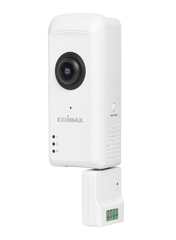 Edimax IC-5160GC-UK Smart Full HD Cloud Garage Camera 180 View and Door Controller with 3 MP, White