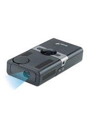 Genius Standalone Pico LED Portable Projector, 10-12 ANSI Lumens, Black