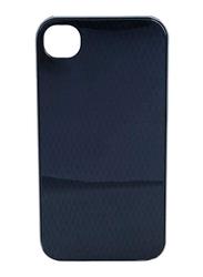 Lafeada Apple iPhone 4/4S Spectrum Mobile Phone Case Cover, Silver/Dark Nickel