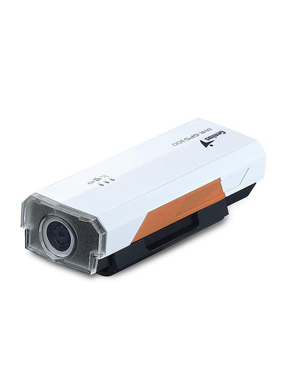 Genius DVR-GPS300 Vehicle Recorder with GPS, 0.3 MP, White