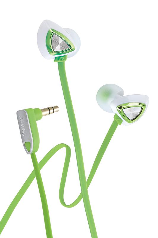 Genius GHP-250X Triangle Luxury In-Ear Headphones, Green