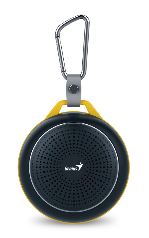 Genius Bluetooth Speaker Sp-906Bt, 5 Hours Play Time, 500Mah Battery With Carabiner for Mobile Phones, Calm Black