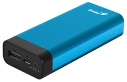 Genius 5200mAh Eco-U527 Powerbank Universal Portable Battery, Blue