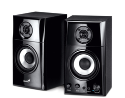 Genius SP-i500 Docking Speakers with Apple cradle - wired Series, Black