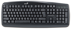 Genius KB-110 Wired Desktop Keyboard for PC, Black